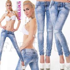 New Women's Skinny Slim Fit Stretch Jeans Denim Size 6 8 10 12 14 XS S M L XL