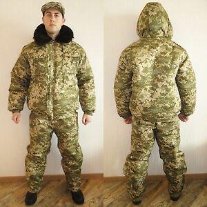Winter Russian Ukraine Army Pixel Camo Jacket Trousers Set. BDU Suit Medium M 48