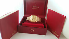 Reloj de Pulsera 1967 para hombres 18K oro OMEGA constelación Caja Original & Papeles Etc