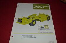 Terex TS-14B Scraper Pan Dealer's Brochure DCPA6