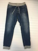 COTTON ON The Deluxe Sporty Cuffed JOGGERS Faded jeans Sz 2 26 Q-1