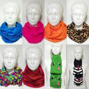New Claire's Girls Kids Scarves Winter Multicolor Multistyle Christmas Gift Neon
