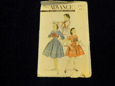 Vtg 1950s Sewing Pattern Girls Sailor Dress Book Day Costume Size 7 Nautical  P3