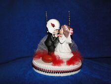 NEW ARIZONA CARDINALS Wedding Caketopper with Kissing Bride & Groom & GoalPost