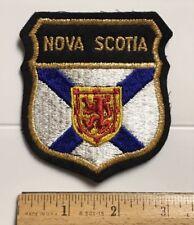 Nova Scotia Canada Provincial Crest Flag Souvenir Embroidered Patch Badge