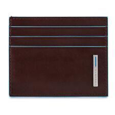 Piquadro Blue Square Bustina tascabile porta tessere in pelle mogano PU4218B2RMO