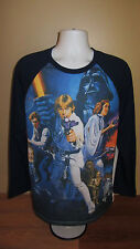 2XL Star Wars Episode IV A New Hope Characters Poster Collage Long Sleeve Shirt