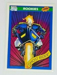 9 cards - 1990 Marvel Comics Rookies #8 - Ghost Rider - Impel Great Cond!