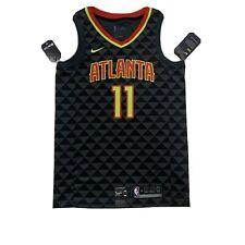 ZHANGYU Trae Traning Jersey Giovane Personalizzato Atlanta Ricamo Hawks Basket Jersey # 11 Fast Break Jersey Nero Edizione Dichiarazione