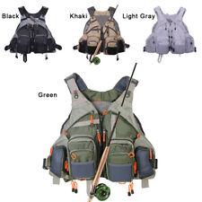 Fly Fishing Mesh Vest General Size Adjustable Mutil-Pocket Breathable Vest