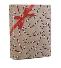 """Candy Cane Glitter Christmas Gift Wrap Wrapping Paper 30"""" wide x 10' long"""