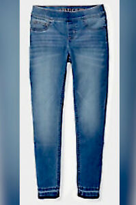 BRAND NEW Justice Size16PJean Jeggings Girls Light Wash Raw Hem Pull On SOLD OUT