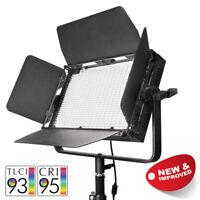 Single Colour 5600K LED Video Light Panel 64W Dimmable CRI>95 Green Screen Film