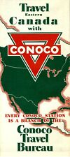 1935 Conoco Road Map: Eastern Canada NOS