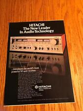 1978 VINTAGE 8X11 PRINT Ad for HITACHI NEW LEADER IN AUDIO SR 804 RECEIVER