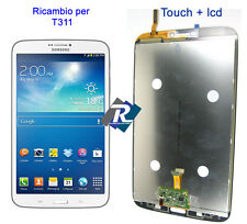 "DISPLAY LCD E TOUCH SCREEN COMPLETO PER SAMSUNG GALAXY TAB 3 SM-T311 8"" BIANCO"