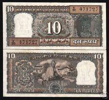 INDIA 10 RUPEES P69 A 1969 MAHATMA GANDHI UNC COMMEMORATIVE CURRENCY MONEY NOTE