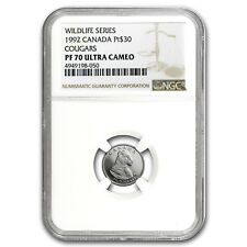 1992 Canada 1/10 oz Proof Platinum $30 Cougar PF-70 NGC