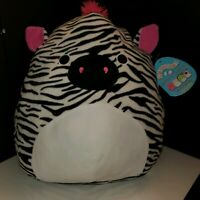 """Squishmallows by Kellytoy Tracey the Zebra 16"""" Huge NWT plush toy Squishmallow"""