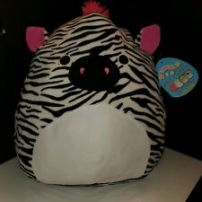 "Squishmallows by Kellytoy Tracey the Zebra 16"" Huge NWT plush toy Squishmallow"