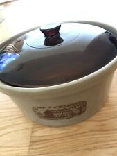 VINTAGE Amana Radarange Country Cooker Microwave Oven Western Stoneware Lid 4 QT