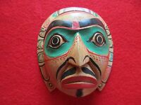 NORTHWEST COAST CEREMONIAL MASK .... HAND CARVED & PAINTED MASK, #WY-488