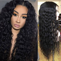Water Wave Lace Front Wig 100% Real Soft Brazilian Virgin Human Hair Full Wigs s