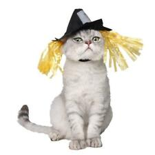 Pet Cat Dog Halloween Holiday Scarecrow Hat Dress Up Cosplay Costume Outfit Hat.