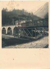 Nr.33657 2 x Foto HIEFLAU Baustelle Erzbaubrücke Eisenerz  1941 Steiermark