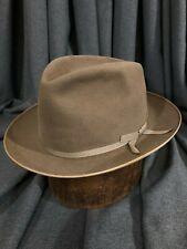 Stetson Size 7 1/8 Taupe Stratoliner Fur Felt Men's Vintage Hat