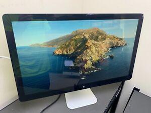 "Apple Thunderbolt Display 27"" Widescreen LCD Monitor B- Grade A1407 CRACKED"