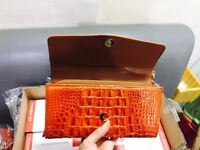 100% Genuine Crocodile Leather Women's Handbag Clutch Purse Wallets VN3R