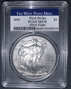 2018 first strike MS 70 silver eagle $1.