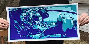 "Blade Runner ""Gaff Spinner 44"" 3/C Silk Screened Poster (24"" x 12"")"