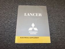2009 Mitsubishi Lancer Electrical Wiring Manual Supplement DE ES GTS 2.0L 2.4L
