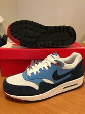 New Nike Air Max 90 Running Essential Safari Japan Infrared Suede Navy Sz 9