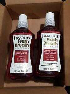 4x - Original Lavoris Fresh Breath Mouthwash Cinnamon 18 oz. Mouth Wash SALE!