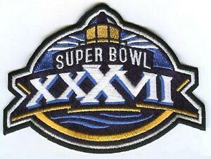 NFL CHAMPION GAME SUPER BOWL XXXVII SUPERBOWL 37 BUCCANEERS RAIDERS PATCH
