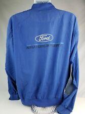 Vintage Ford Motorsport Windbreaker Jacket Distressed Denim Patches Men's Large
