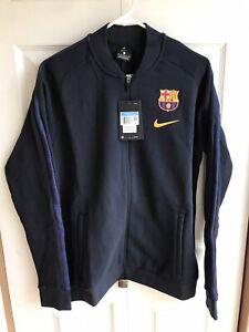 NWT Nike FCB Barcelona Team Issue Jacket Blue On Field Player RARE Size Medium