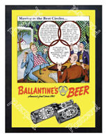 Historic Ballantine's Beer - Moving in the Best Circles 1936 Beer Ad Postcard
