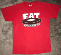 Vintage Fat Wreck Chords Label T Shirt Sz Medium NO/FX Lagwagon Strung Out Punk
