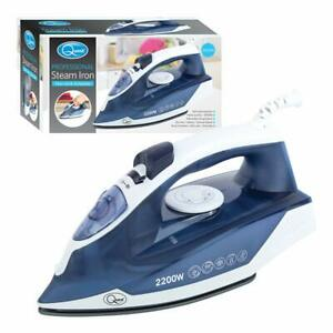Quest 2200W Handheld Professional Steam Iron Non Stick Soleplate Self Cleaning B