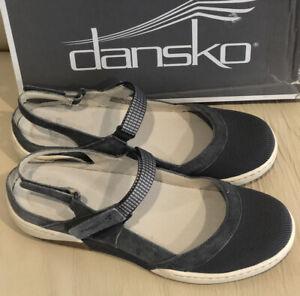 Dansko Raeann Slate Suede NEW - Size EUR 39