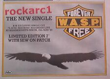 WASP Forever Free 1989 UK Poster size Press ADVERT 12x8 inches