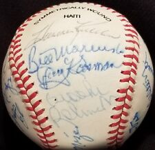 1980s HALL of FAME & STARS Signed Ball AL KALINE BUNNING MIZE CARLTON WILLIAMS