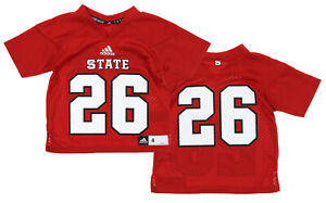 Adidas NCAA Football Kids (4-7) NC State Wolfpack #26 Football Jersey, Red