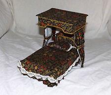 Escala 1/12th Muñecas Manor House Vintage dosel cama