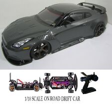 1/10 Scale NISSAN GT-R RTR Custom RC Drift Cars 4WD 2.4Ghz & Charger gunmetal