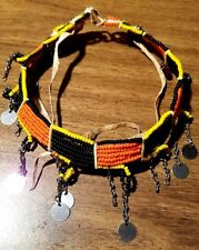 MASAI BEADED WIRE NECKLACE/ CHOKER. TRADITIONAL AFRICAN JEWELRY